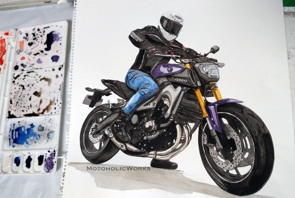JL Ride Illustration For A Kawasaki W800 Motorbike Fan T-shirt