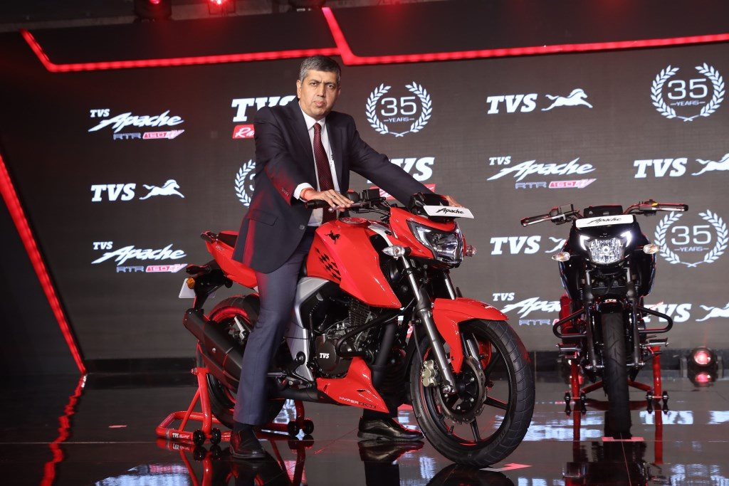TVS Apache RTR 160 4V launched from INR 81,490 onwards